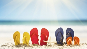 Family vaction time: sandals, sun, sea; it's summer!
